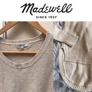 Like New-Madewell Hi Low Pullover Sweater